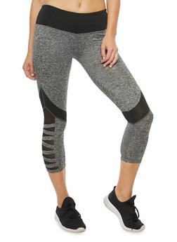 Sheer Side Activewear Leggings - 1058063405194