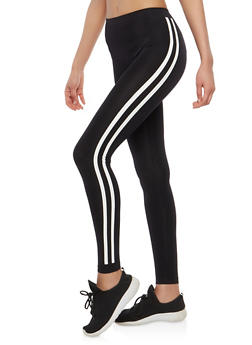 Side Striped Leggings - 1059001441339