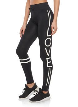 Love Graphic Leggings - 1059001442231