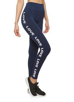 Love Graphic Leggings - 1059061633042