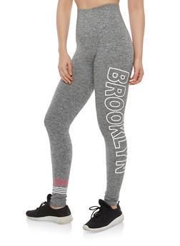 Marled Brooklyn Graphic Leggings - 1059061634018