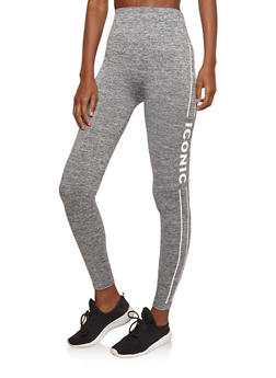 Marled Iconic Graphic Active Leggings - 1059061634216