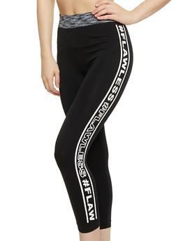 Flawless Capri Activewear Leggings - 1059061635660