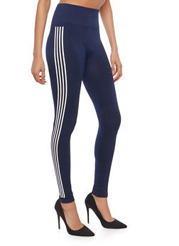Athletic Stripe Leggings - 1059061636118