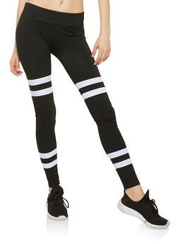 Striped Detail Leggings - 1059062902802