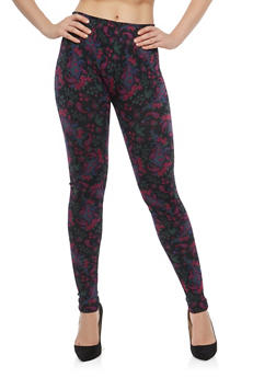 Paisley Print Leggings - 1059062903001