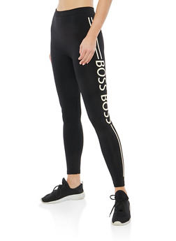 Boss Graphic Fleece Lined Leggings - 1059062903602
