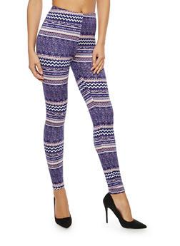 Soft Knit Printed Leggings - 1059062903703