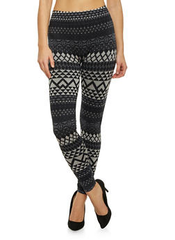 Geo Print Leggings - 1059062905326