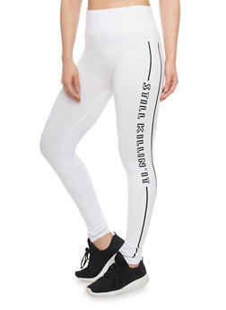 High Waisted Still Killin It Activewear Leggings - 1059062906508