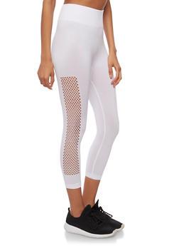 Capri Leggings with Side Mesh Detail - 1059062906562
