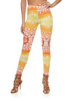 Two Tone Printed Leggings - 1059062906581