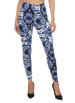 Tie Dye Print Leggings - 1059062906595