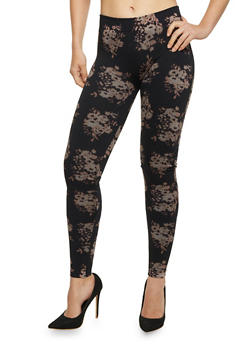 Floral Print Leggings - 1059062906632