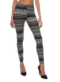 Printed Soft Knit Leggings - 1059062907191