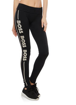 Boss Graphic Leggings - 1059062907225
