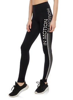 In Motion Graphic Leggings - 1059062907308
