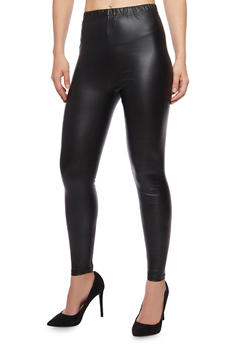 Faux Leather Leggings - 1059069022698