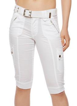 Belted Bermuda Cargo Shorts - 1060038348250