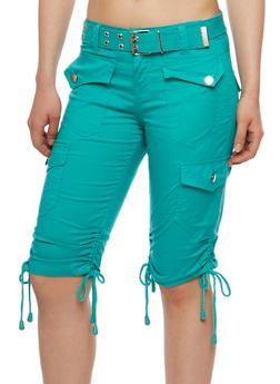 Bermuda Cargo Shorts with Belt - 1060038348252