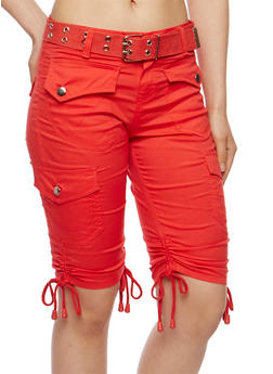 Bermuda Cargo Shorts with Belt - 1060038348252