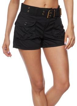 Belted Cargo Shorts - 1060038348270