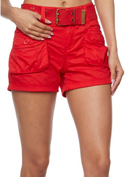 Belted Cargo Shorts - 1060038348270