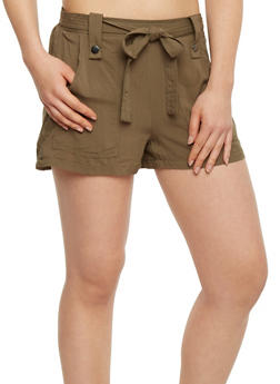 Soft Knit Shorts with Tie Belt - 1060051061600