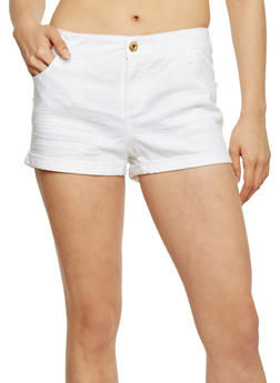 Basic Twill Shorts with Rolled Cuffs - 1060051065613