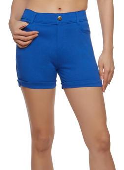 Solid Stretch Shorts - 1060072711280
