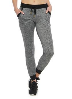Contrast Trim Marled Sweatpants - 1061015992487