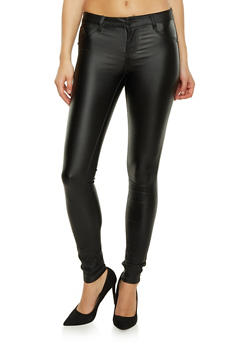 Almost Famous Skinny Jeans with Glossy Coating - 1061015998687