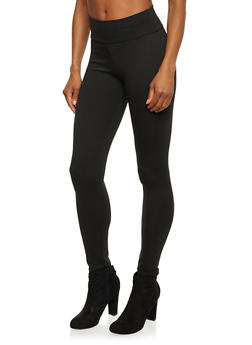Leggings with High Waisted Paneling - 1061020626361