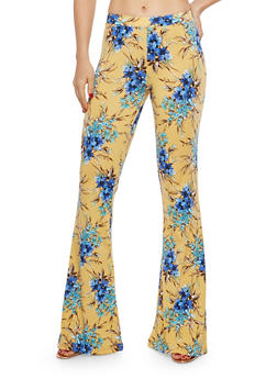 Floral Print Flared Pants - 1061020626364