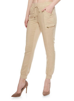 Casual String Tie Jogger Pants - 1061051063202
