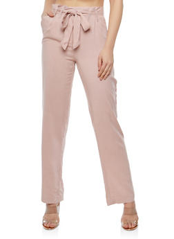 Belted Wide Leg Trousers - 1061051063632