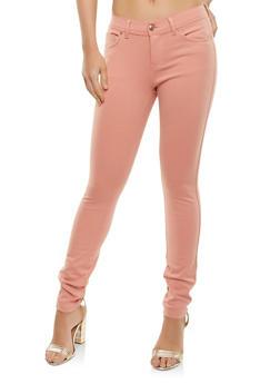 Stretch Knit Push Up Pants - MAUVE - 1061054262149