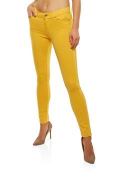 Stretch Knit Push Up Pants - MUSTARD - 1061054262149