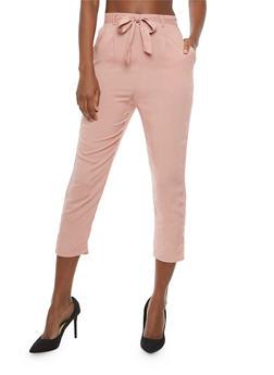 Soft Knit Tie Waist Pants - 1061054265911