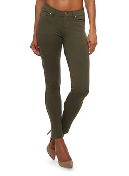 Solid Knit Jeggings - 1061054266941
