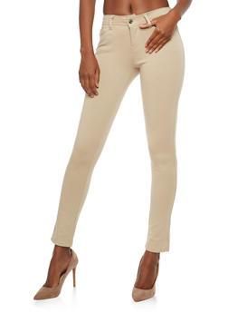 Skinny Stretch Pants - KHAKI - 1061054267085