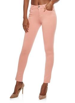 Skinny Stretch Pants - MAUVE - 1061054267085