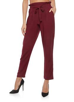 Paperbag Waist Dress Pants - 1061054269993