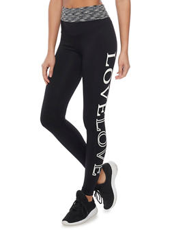 Push Up Love Graphic Activewear Leggings - 1061061636134