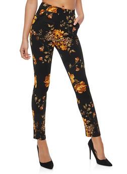 Mustard Floral Dress Pants - 1061062416641