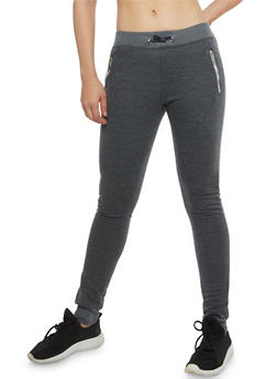 Fleece Lined Zip Joggers - 1061062700883