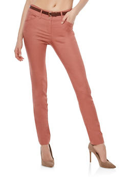 High Waisted Skinny Dress Pants - 1061062705751