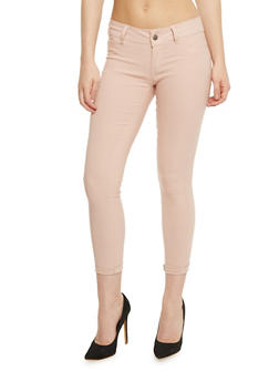 Faux Pocket Stretch Knit Pants - 1061062709908