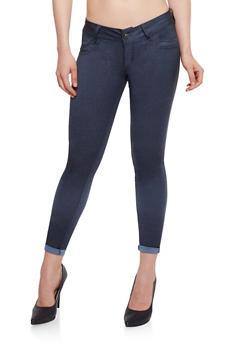 Faux Pocket Stretch Knit Pants - 1061062709908
