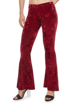 Crushed Velvet Flared Pants - 1061063400400